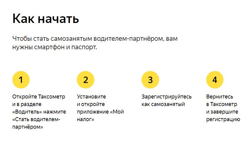 Самозанятый в Яндекс.Такси