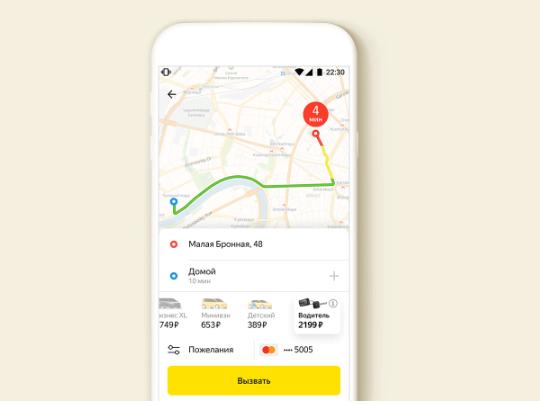 Тарифы Яндекс такси