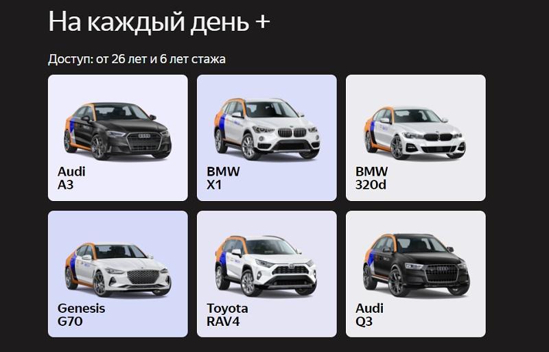 Машины Яндекс Драйв